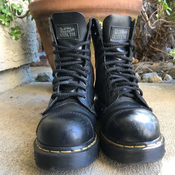 Dr. Martens Shoes - 10 eye Dr. Martens steel toe boots. 11c4e8ebb8